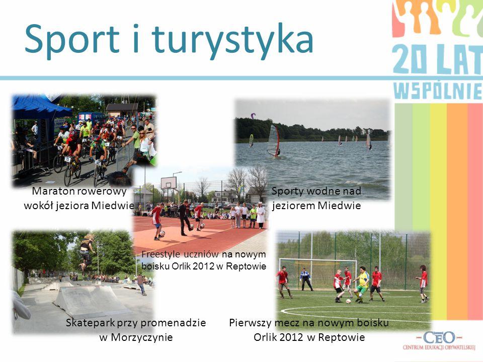 Sport i turystyka Maraton rowerowy wokół jeziora Miedwie