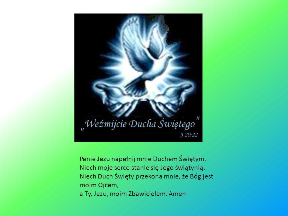 Panie Jezu napełnij mnie Duchem Świętym