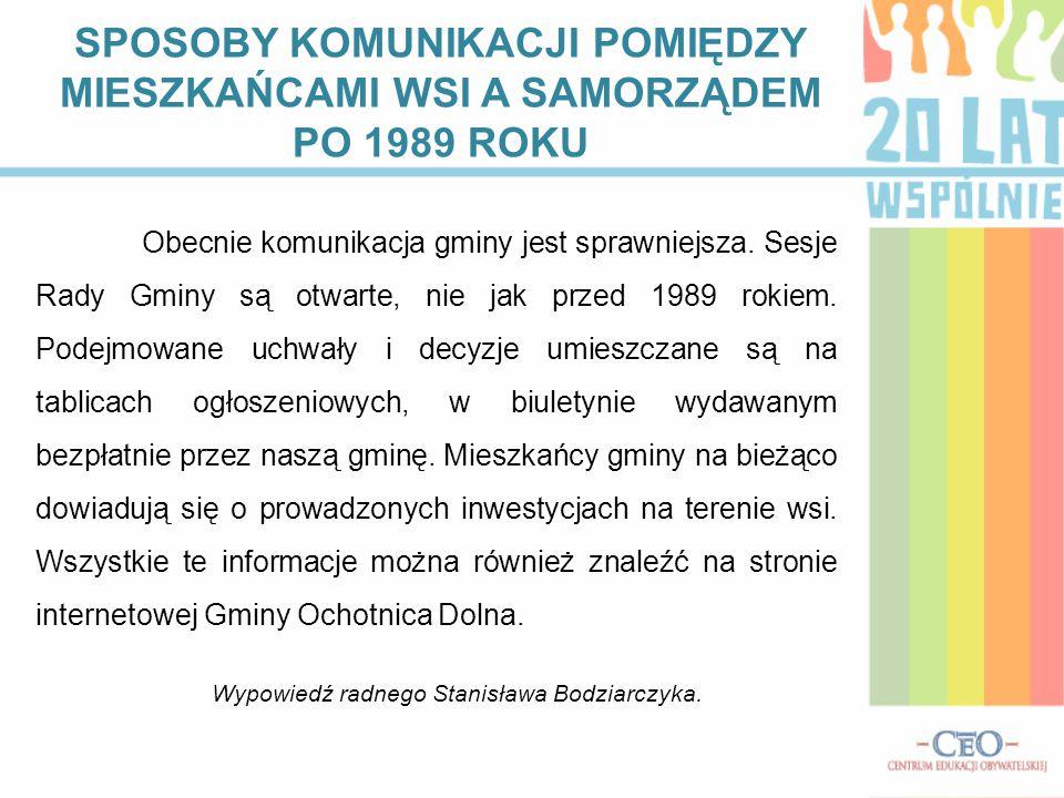 Wypowiedź radnego Stanisława Bodziarczyka.