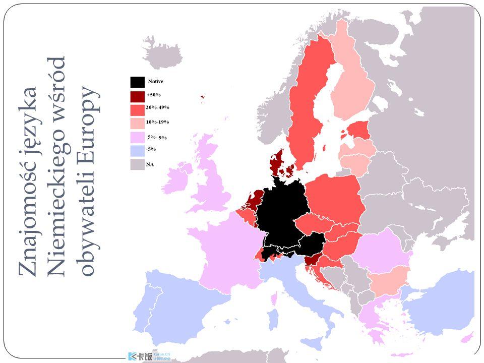 Znajomość języka Niemieckiego wśród obywateli Europy