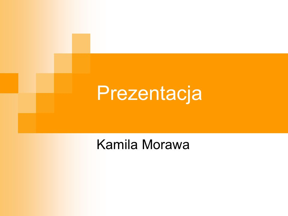 Prezentacja Kamila Morawa