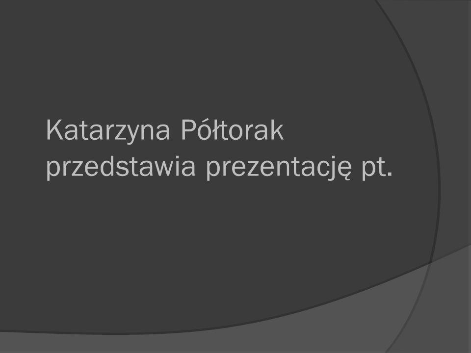 Katarzyna Półtorak przedstawia prezentację pt.