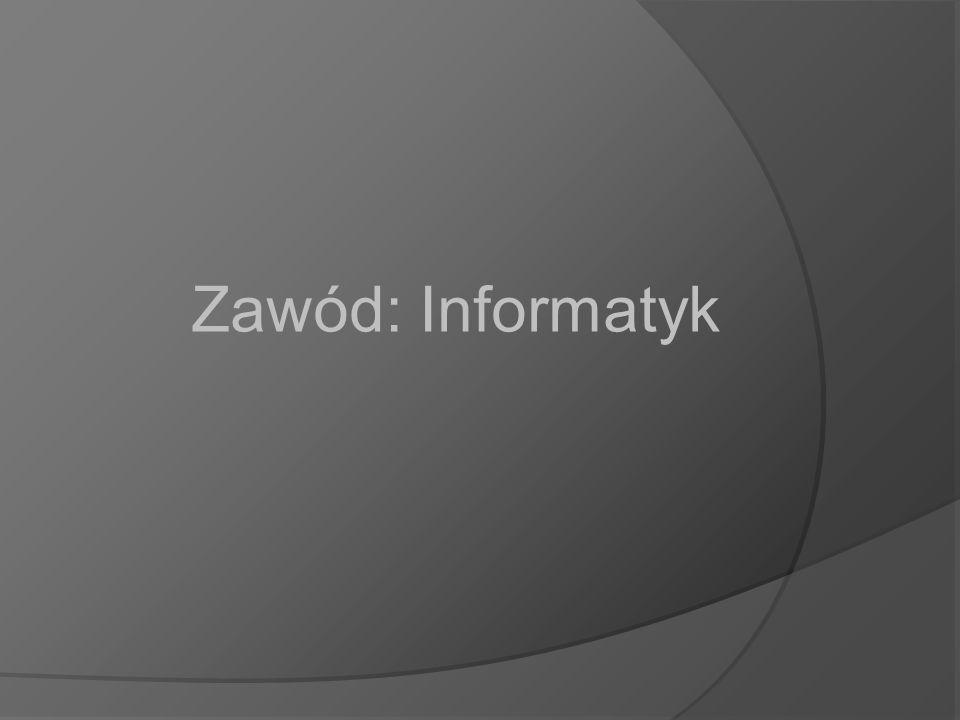 Zawód: Informatyk