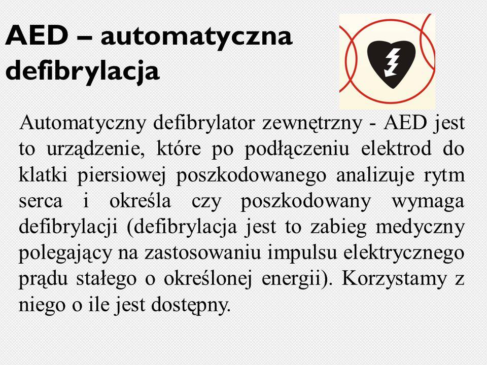 AED – automatyczna defibrylacja