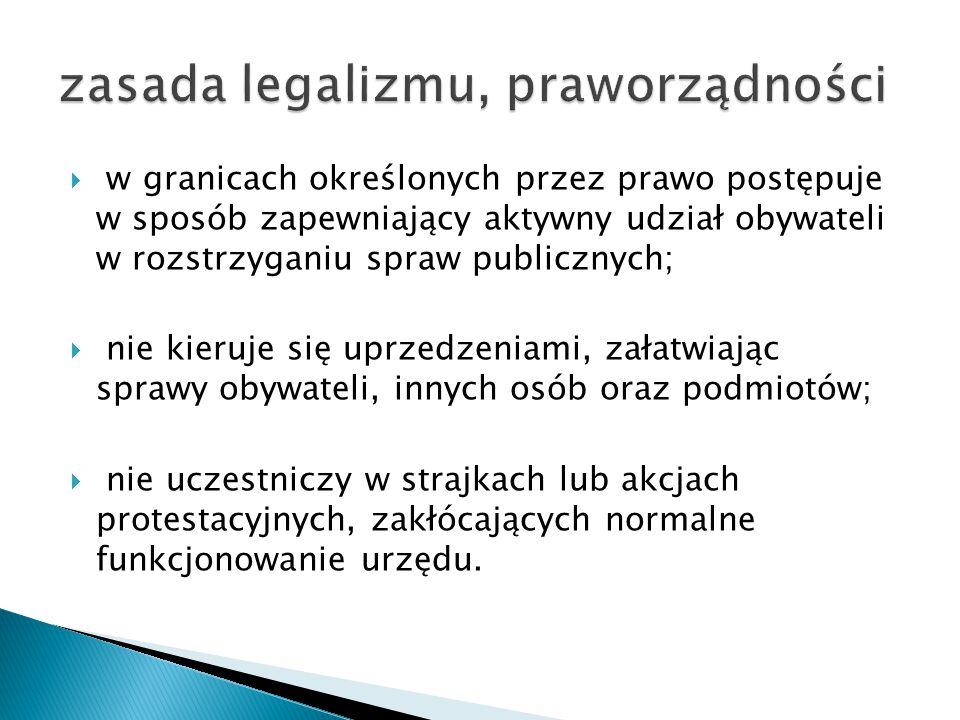 zasada legalizmu, praworządności