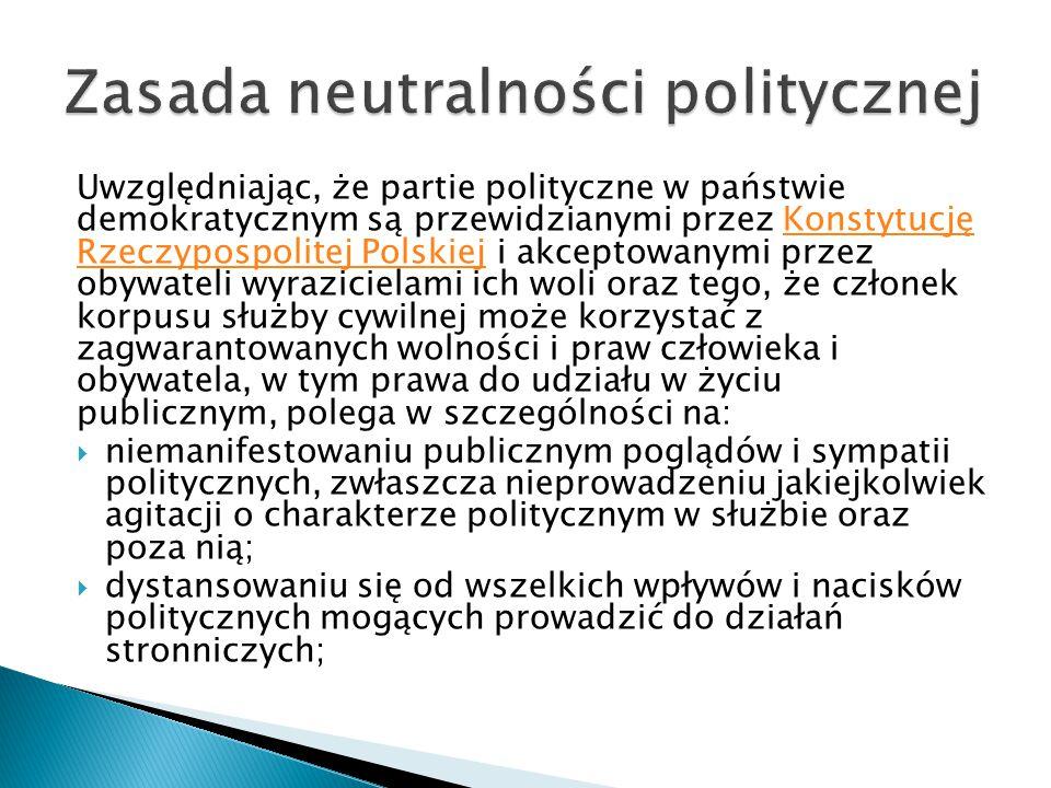 Zasada neutralności politycznej