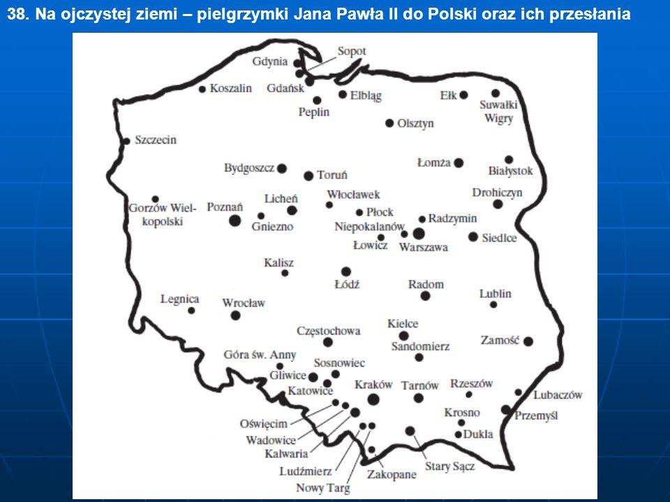 38. Na ojczystej ziemi – pielgrzymki Jana Pawła II do Polski oraz ich przesłania