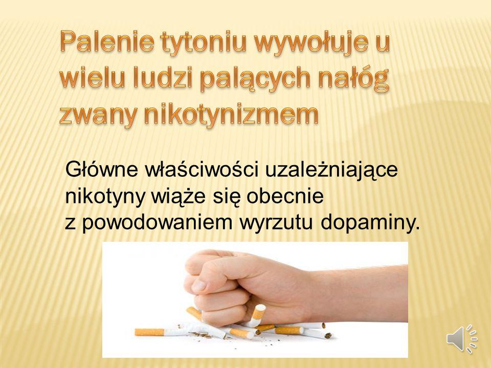 Palenie tytoniu wywołuje u wielu ludzi palących nałóg zwany nikotynizmem