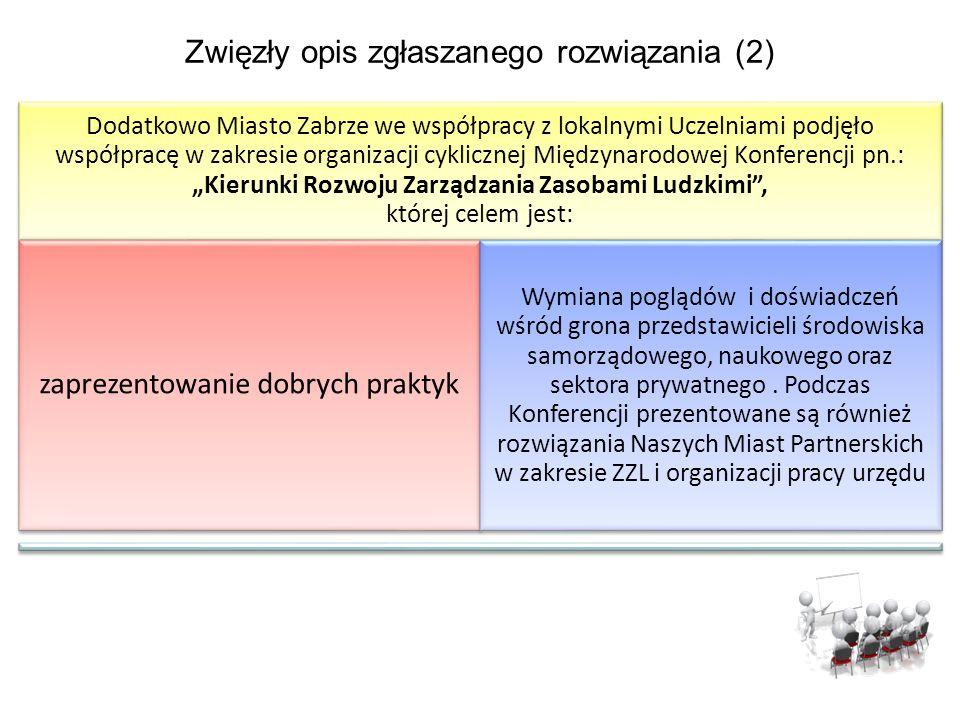 Zwięzły opis zgłaszanego rozwiązania (2)