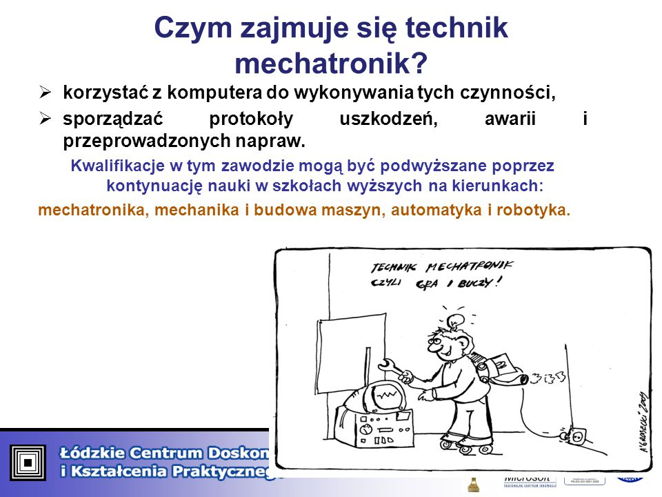 Czym zajmuje się technik mechatronik