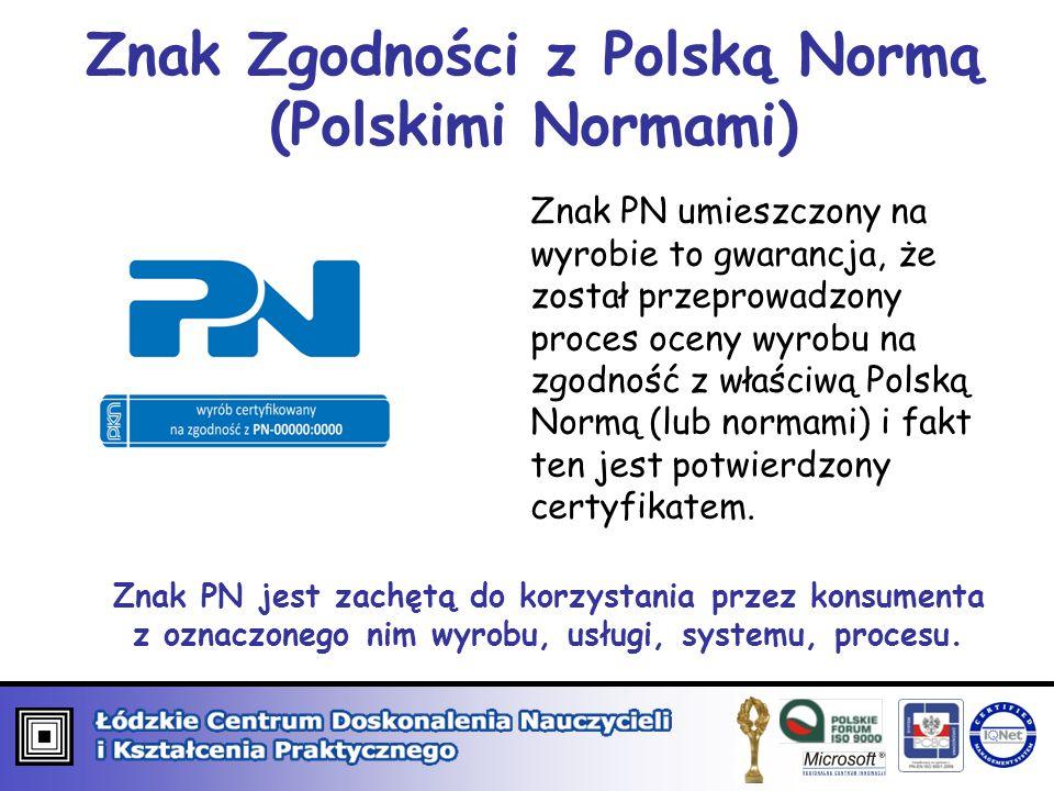 Znak Zgodności z Polską Normą (Polskimi Normami)