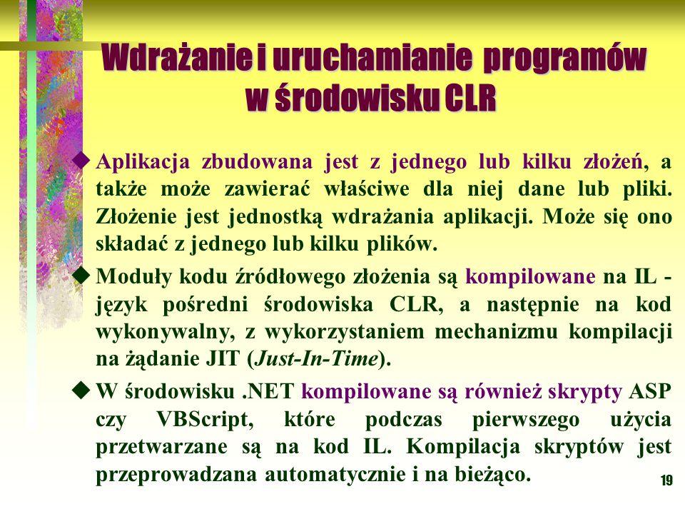 Wdrażanie i uruchamianie programów w środowisku CLR