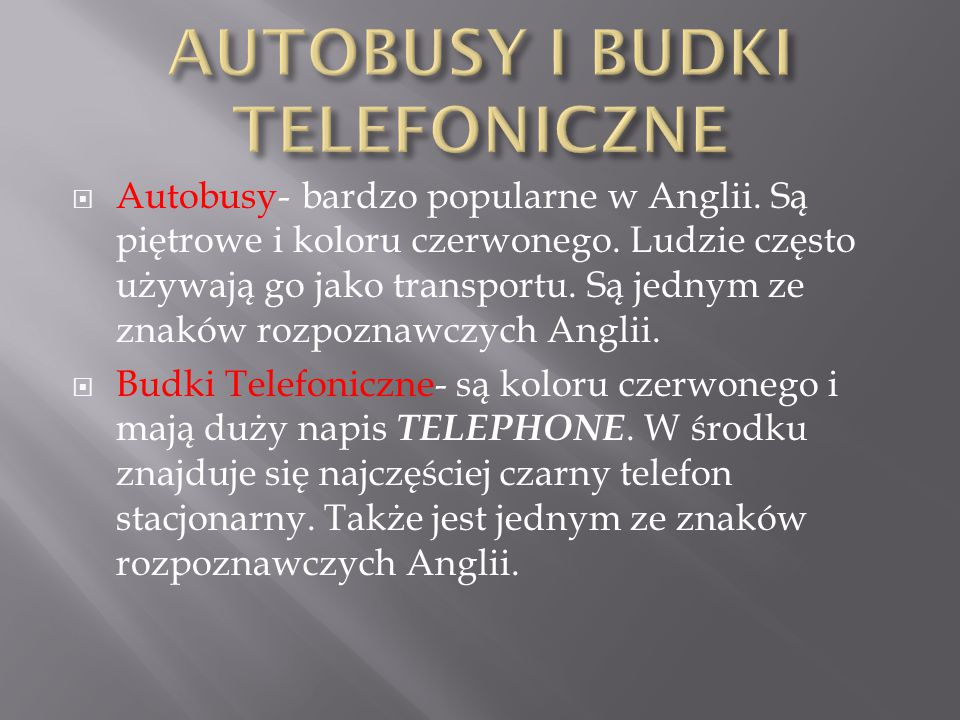 AUTOBUSY I BUDKI TELEFONICZNE