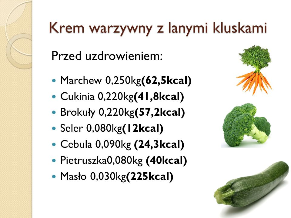Krem warzywny z lanymi kluskami