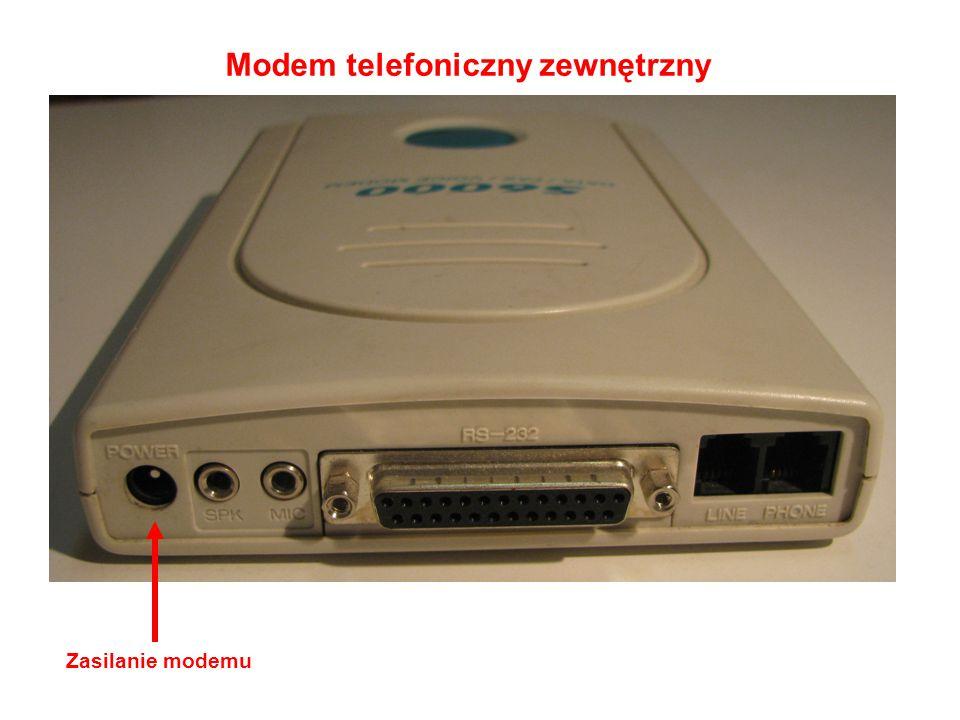 Modem telefoniczny zewnętrzny