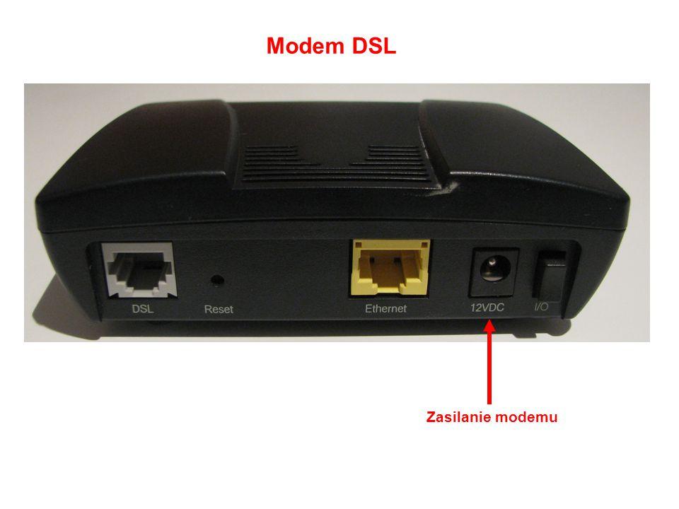 Modem DSL Zasilanie modemu
