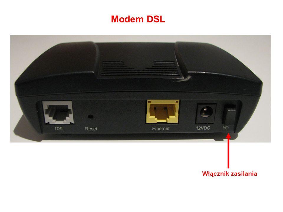 Modem DSL Włącznik zasilania