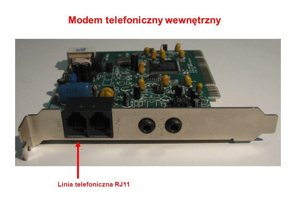 Modem telefoniczny wewnętrzny