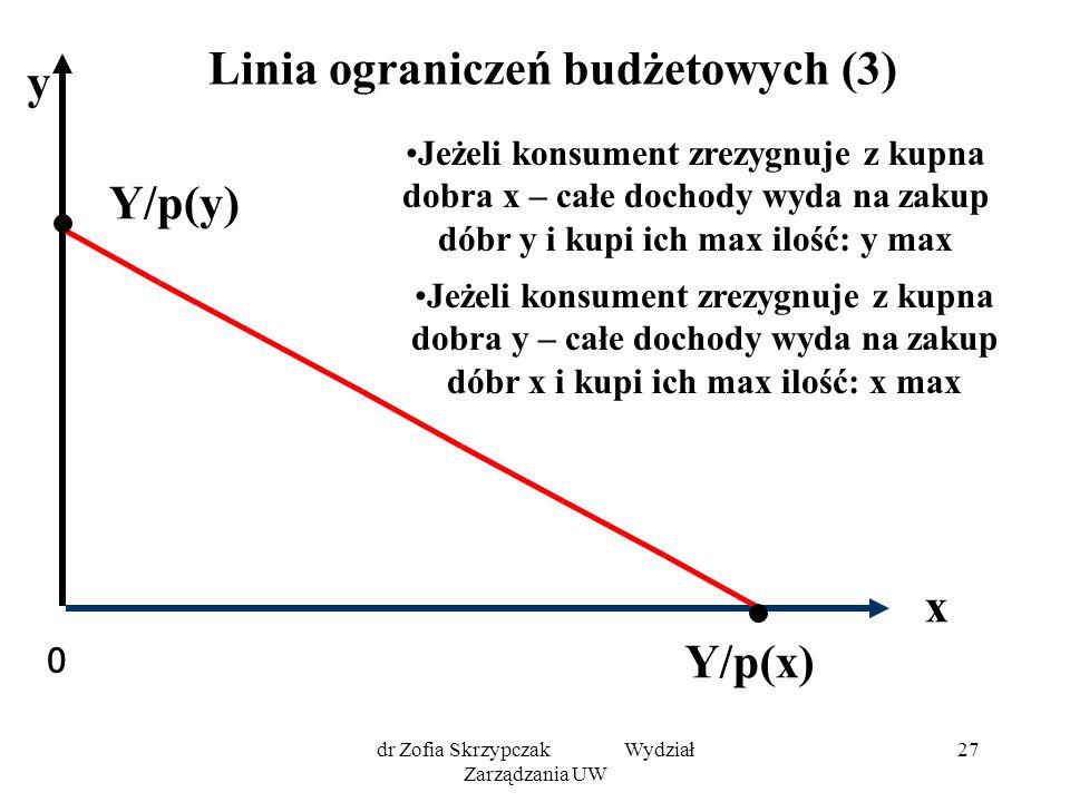 Linia ograniczeń budżetowych (3)