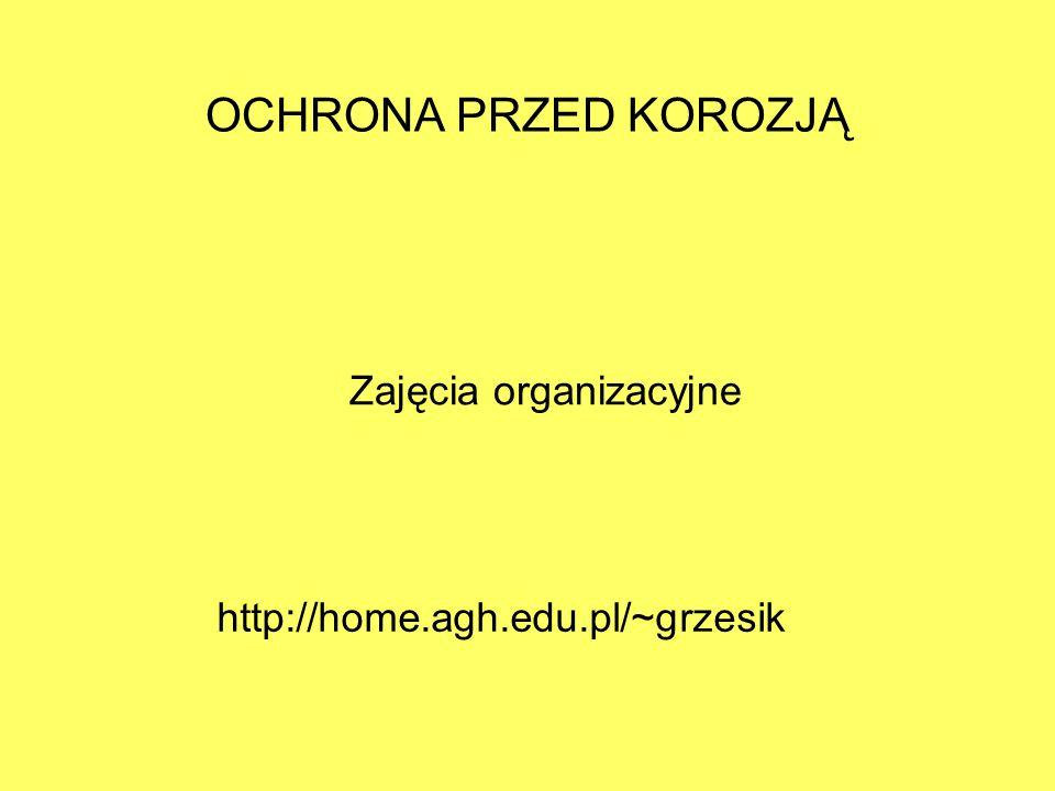 Zajęcia organizacyjne