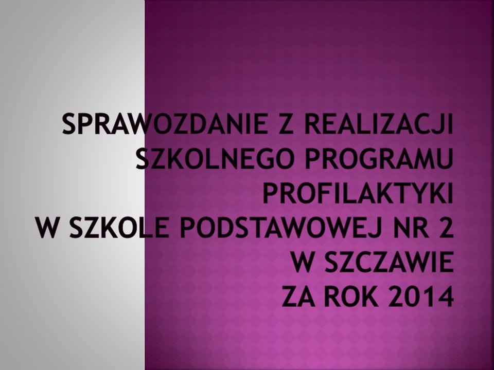 Sprawozdanie z realizacji Szkolnego Programu Profilaktyki w Szkole Podstawowej nr 2 w Szczawie za rok 2014