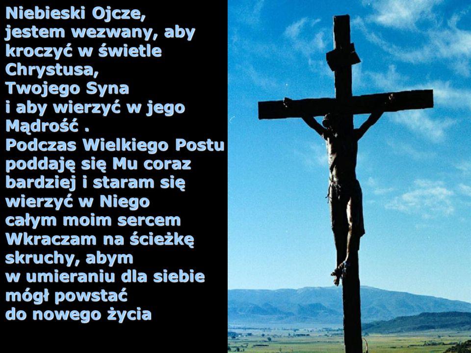 Niebieski Ojcze, jestem wezwany, aby. kroczyć w świetle. Chrystusa, Twojego Syna. i aby wierzyć w jego.