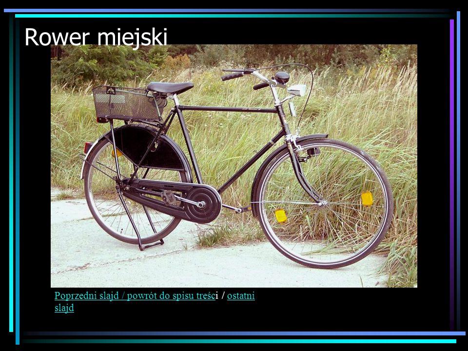 Rower miejski Poprzedni slajd / powrót do spisu treści / ostatni slajd