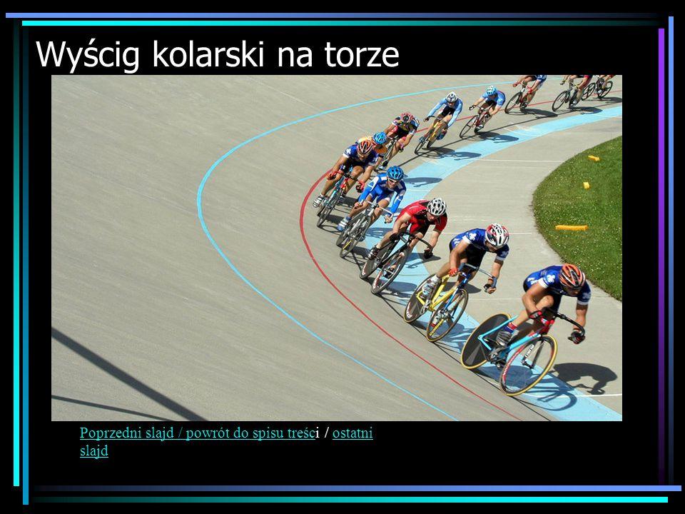 Wyścig kolarski na torze