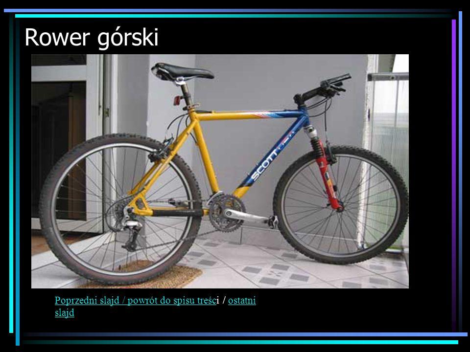 Rower górski Poprzedni slajd / powrót do spisu treści / ostatni slajd