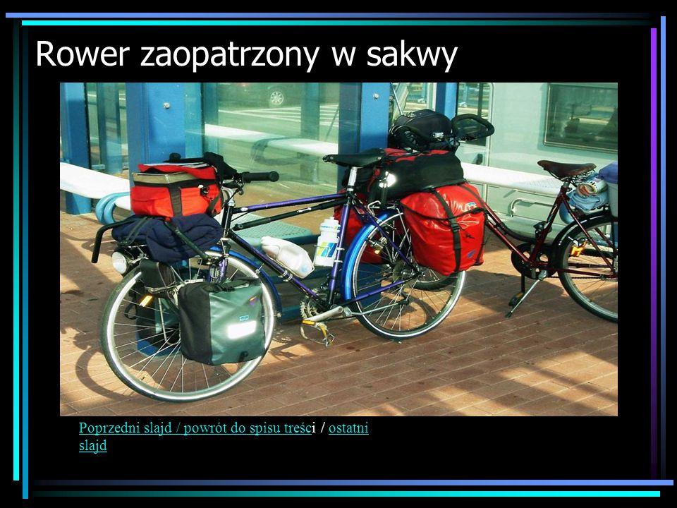 Rower zaopatrzony w sakwy