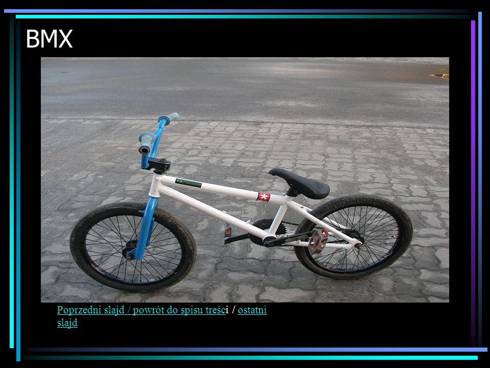 BMX Poprzedni slajd / powrót do spisu treści / ostatni slajd