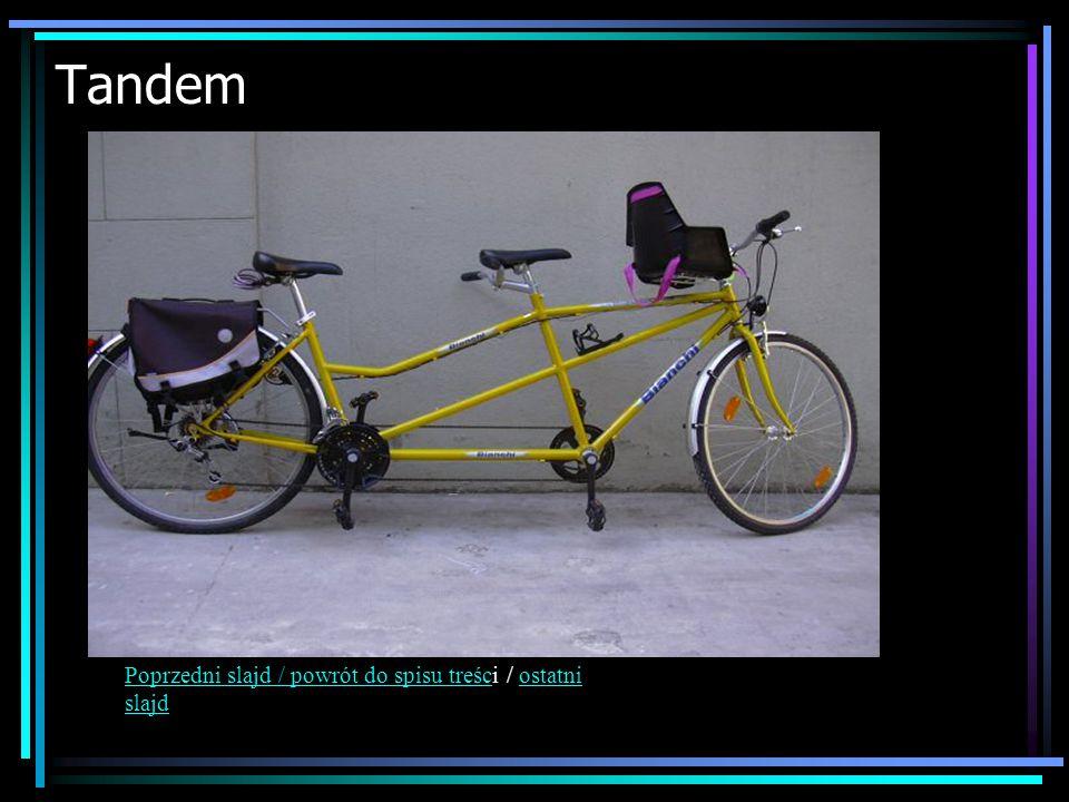 Tandem Poprzedni slajd / powrót do spisu treści / ostatni slajd