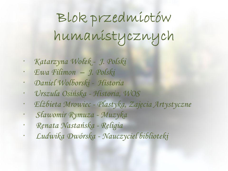 Blok przedmiotów humanistycznych