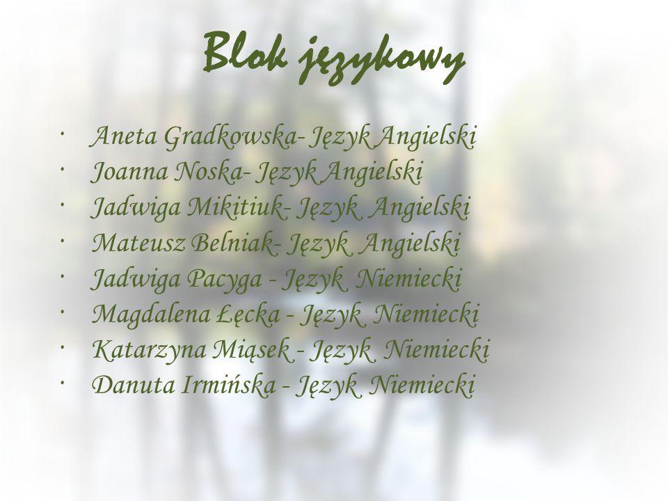 Blok językowy Aneta Gradkowska- Język Angielski