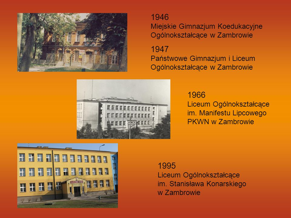 1946 Miejskie Gimnazjum Koedukacyjne Ogólnokształcące w Zambrowie