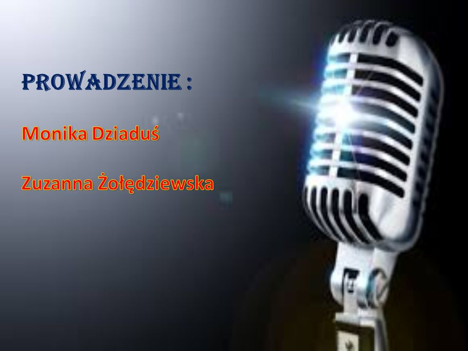 Prowadzenie : Monika Dziaduś Zuzanna Żołędziewska