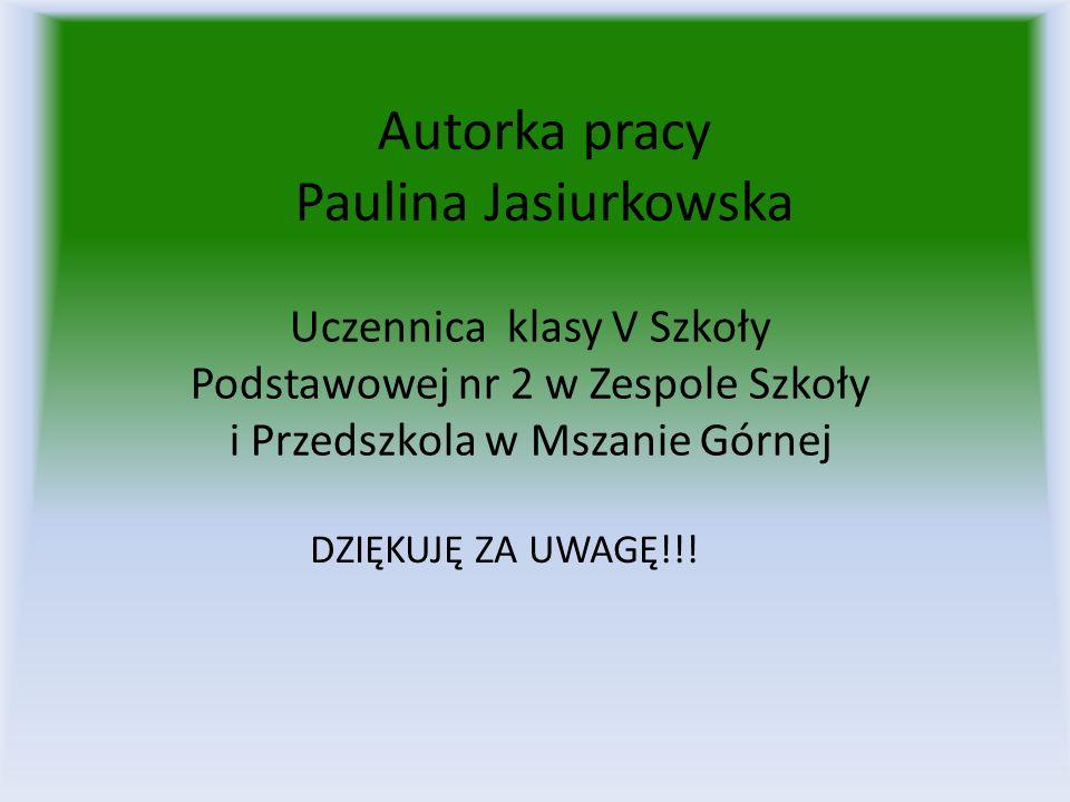 Autorka pracy Paulina Jasiurkowska