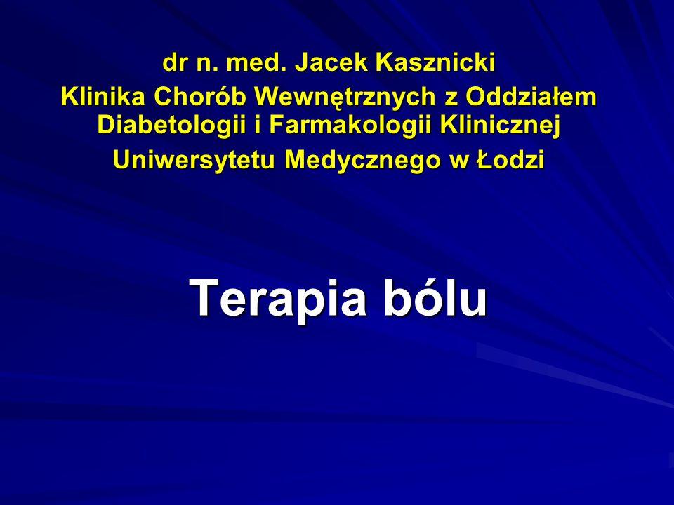 dr n. med. Jacek Kasznicki Uniwersytetu Medycznego w Łodzi