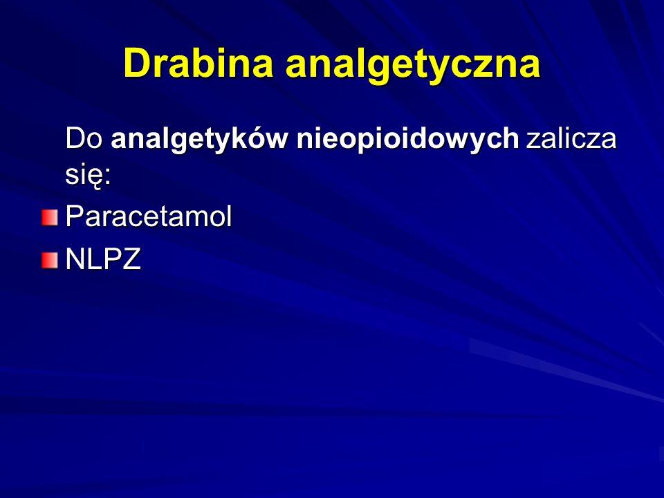 Drabina analgetyczna Do analgetyków nieopioidowych zalicza się: