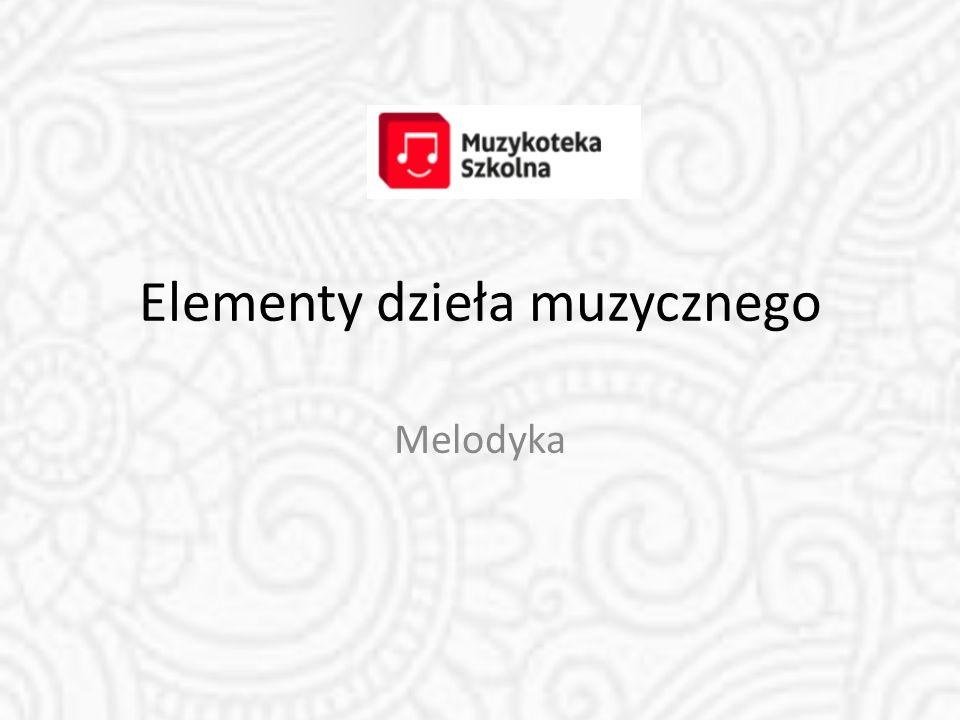 Elementy dzieła muzycznego
