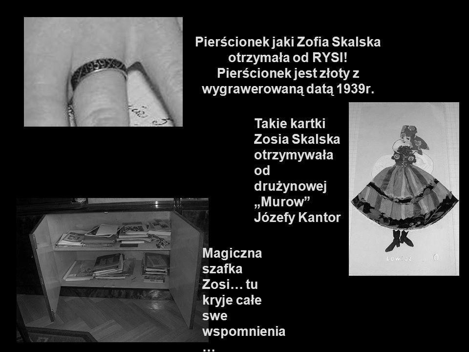 Pierścionek jaki Zofia Skalska otrzymała od RYSI