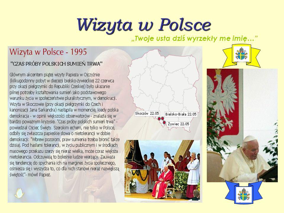 """Wizyta w Polsce """"Twoje usta dziś wyrzekły me imię…"""