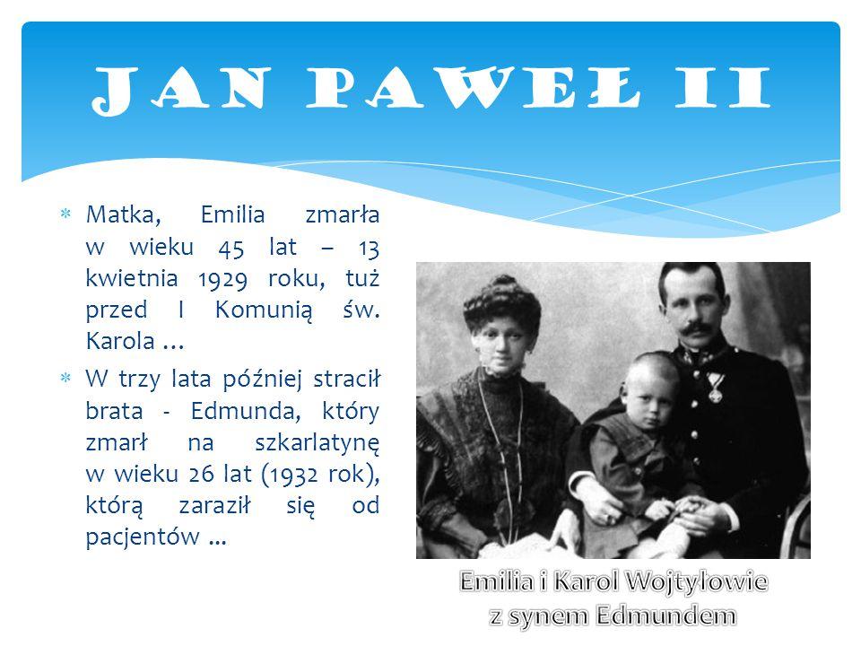 Emilia i Karol Wojtyłowie z synem Edmundem