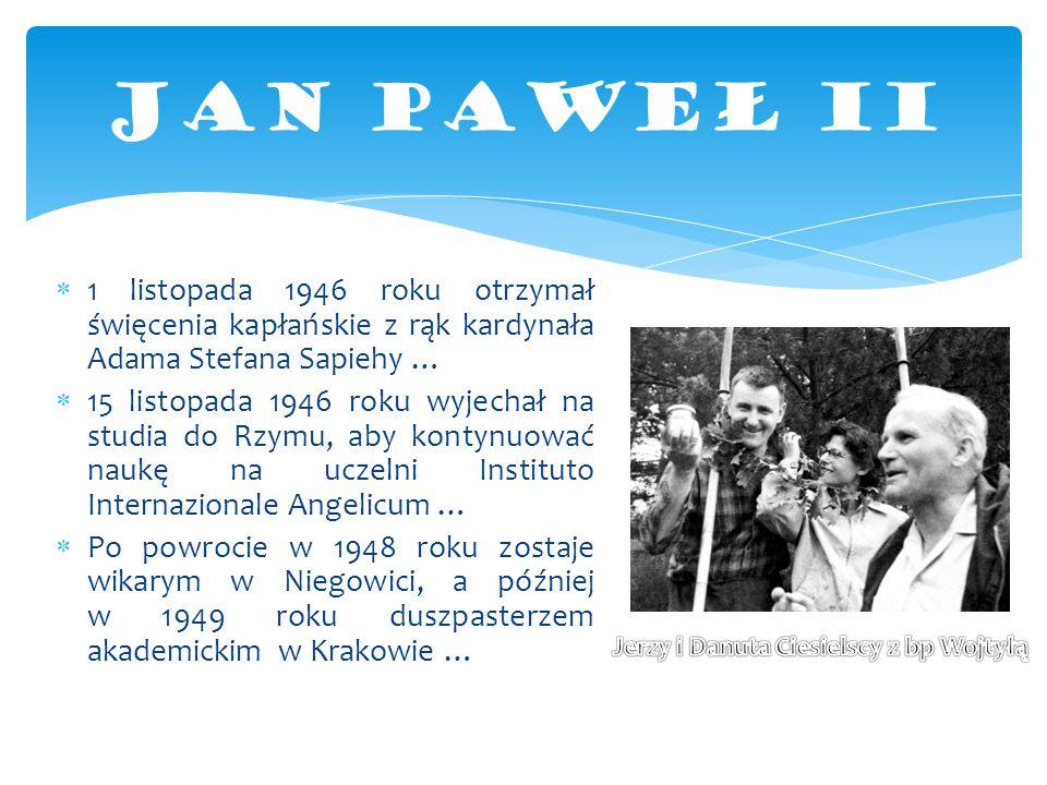Jerzy i Danuta Ciesielscy z bp Wojtyłą