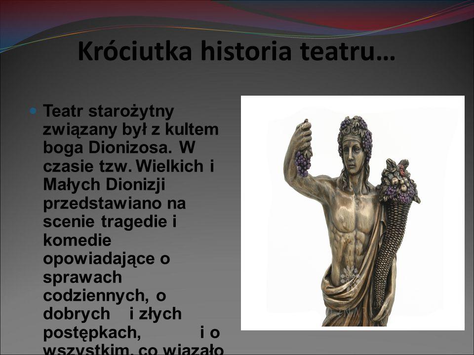 Króciutka historia teatru…