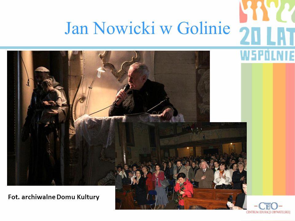 Jan Nowicki w Golinie Fot. archiwalne Domu Kultury
