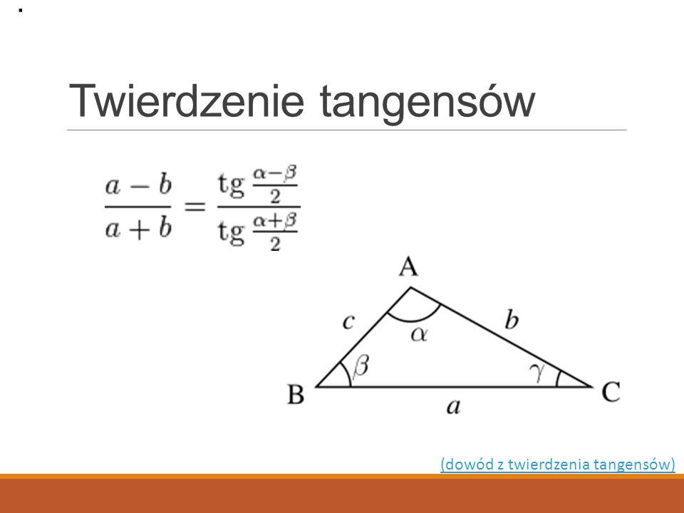 Twierdzenie tangensów
