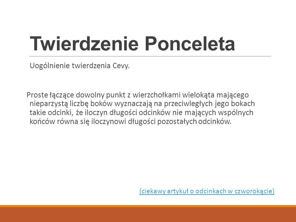 Twierdzenie Ponceleta