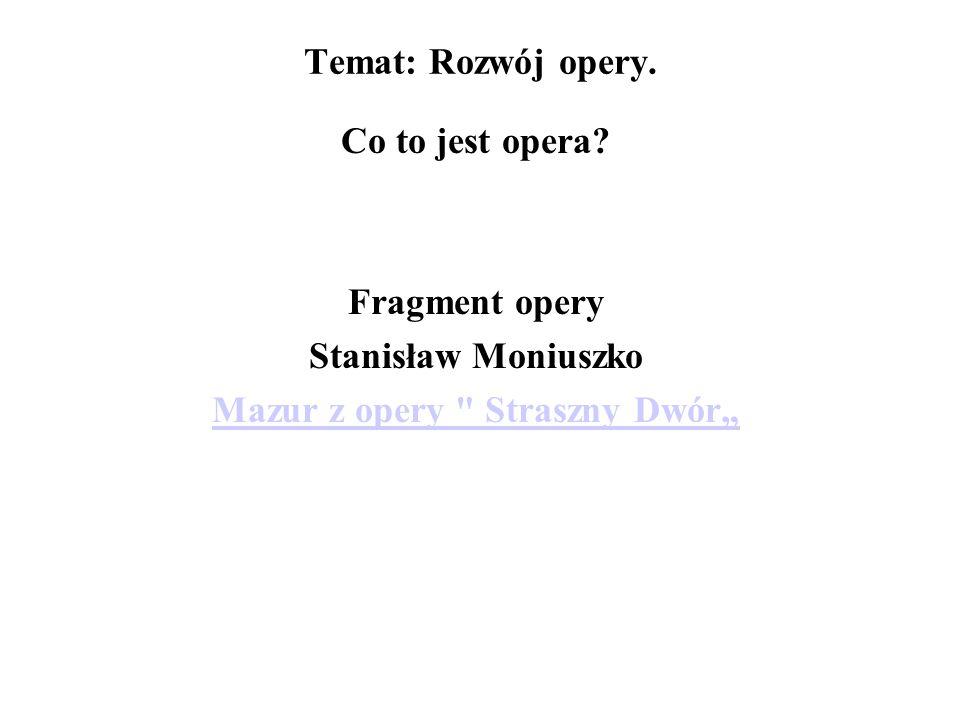 """Mazur z opery Straszny Dwór"""""""