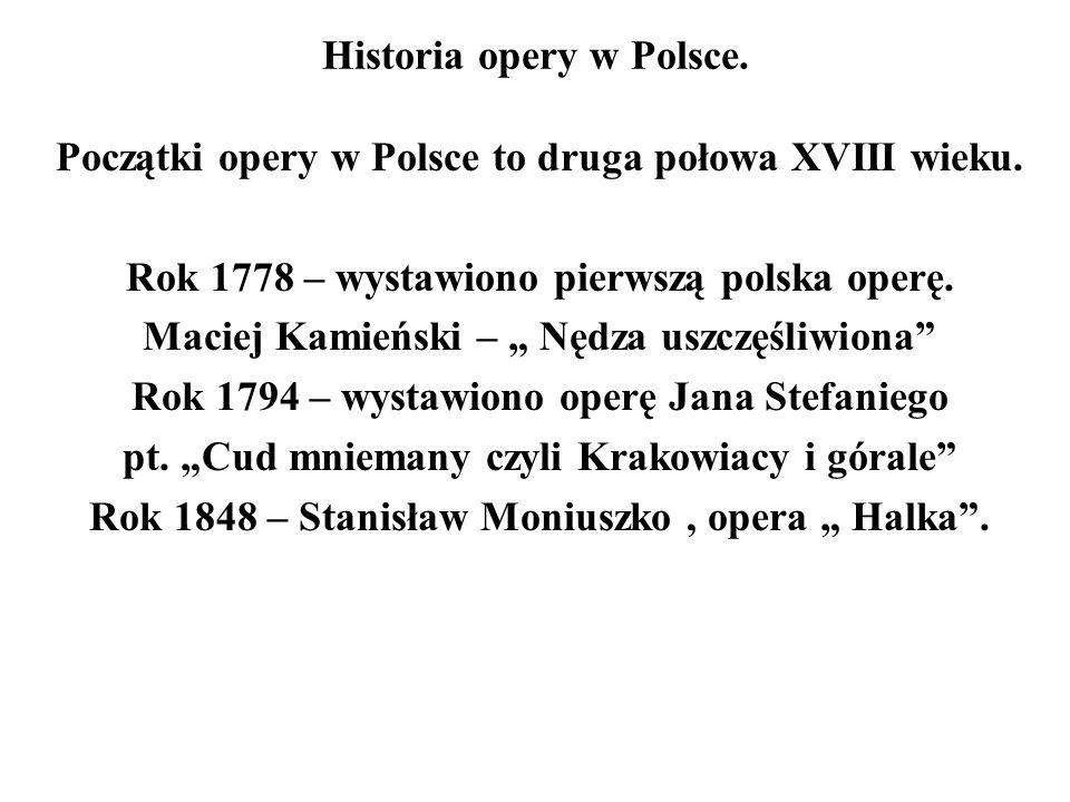 Historia opery w Polsce.